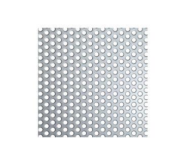 Perforert plate syrefast 316, ø-10 mm, 2000x1000x2 mm