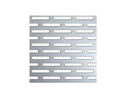 Perforert plate alu. 5754, 5x20 mm, 2000x1000x1,5 mm