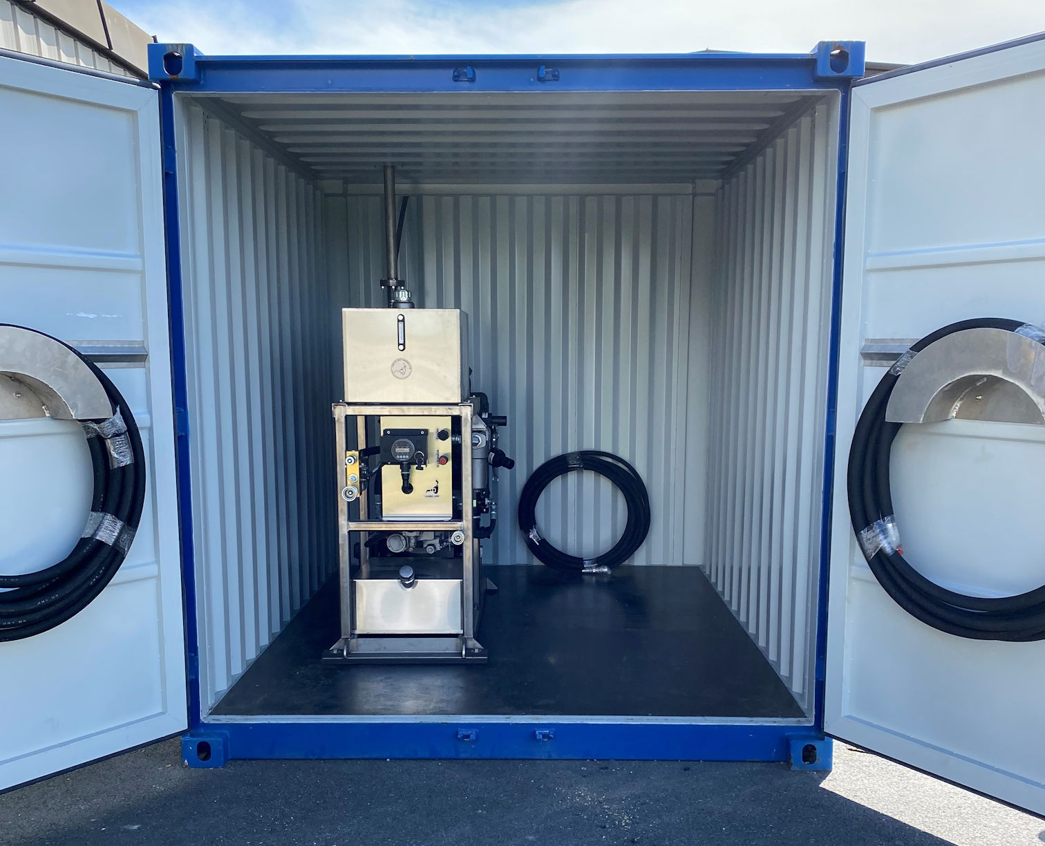 Hydraulikkaggregat i container